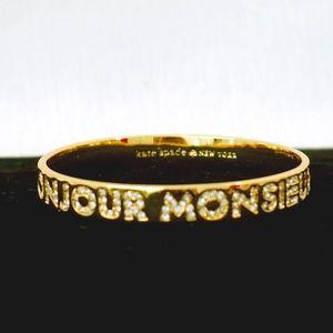 KATE SPADE~bonjour monsieur~BANGLE~CRYSTAL/GOLD